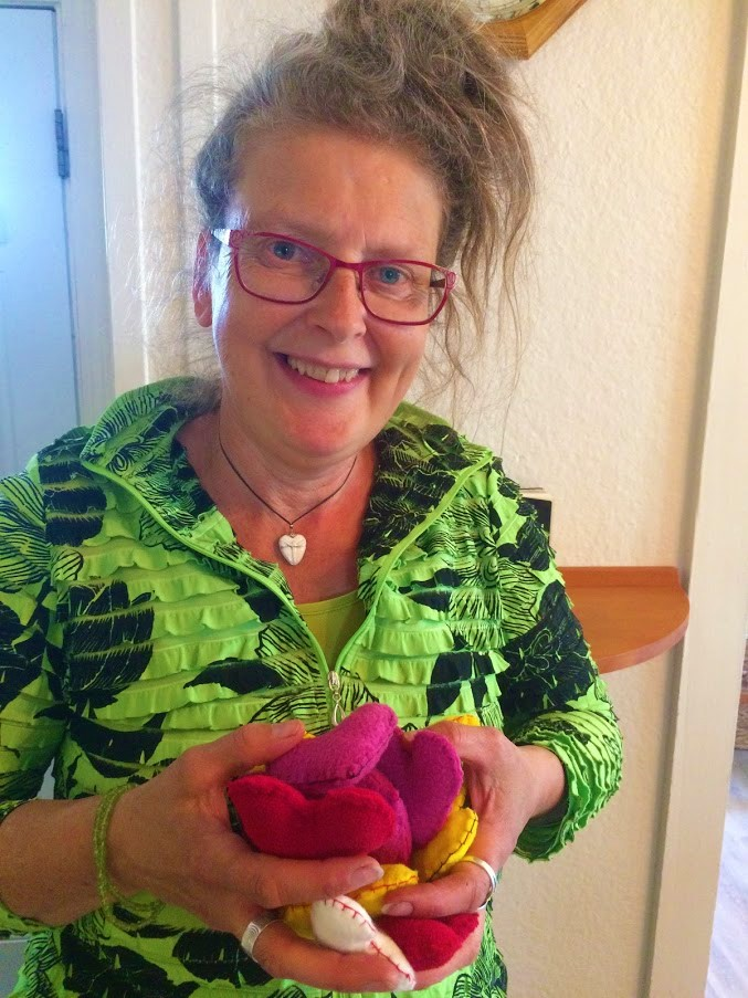 suzanne with feelie hearts