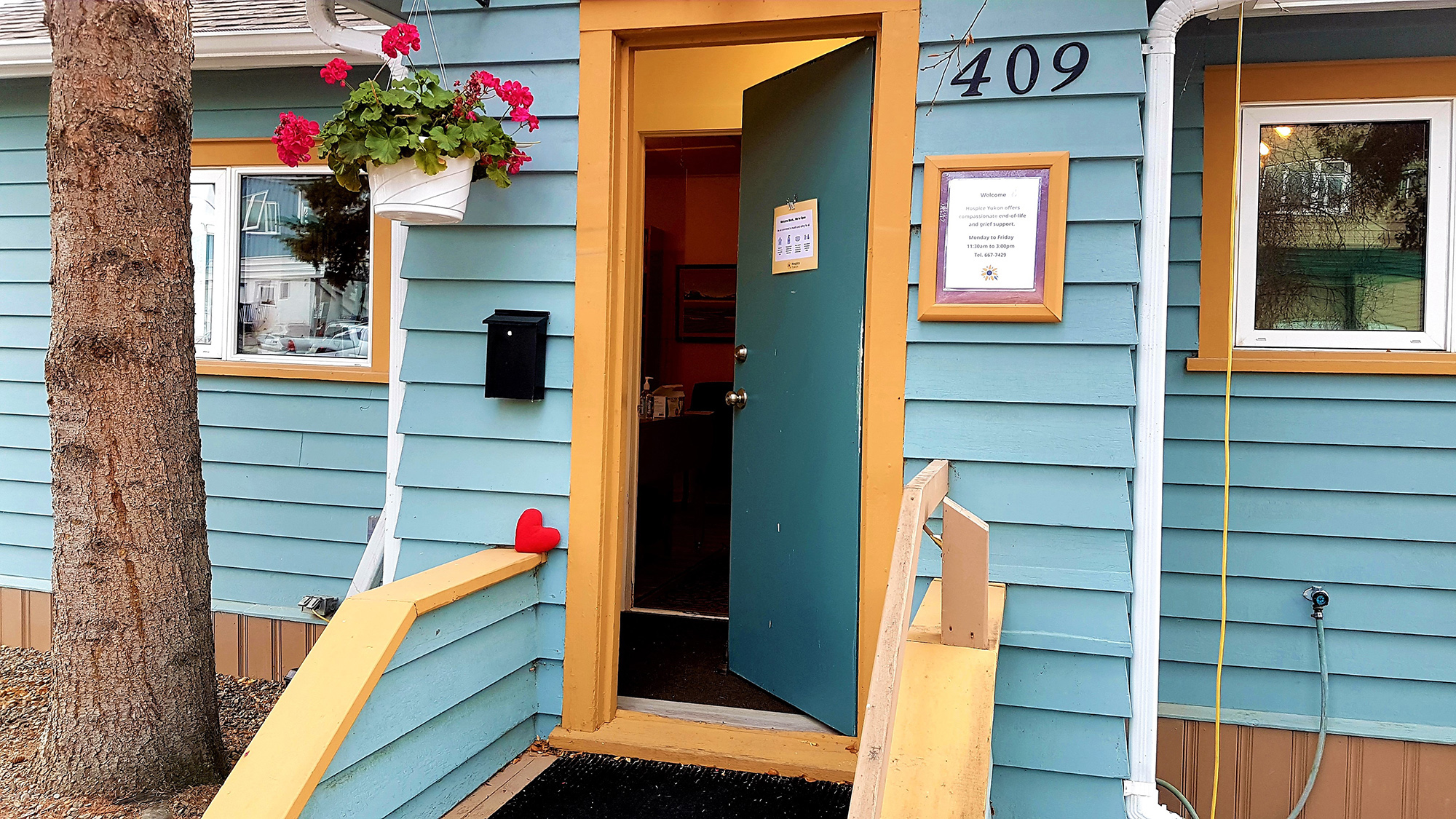 open door at Hospice Yukon