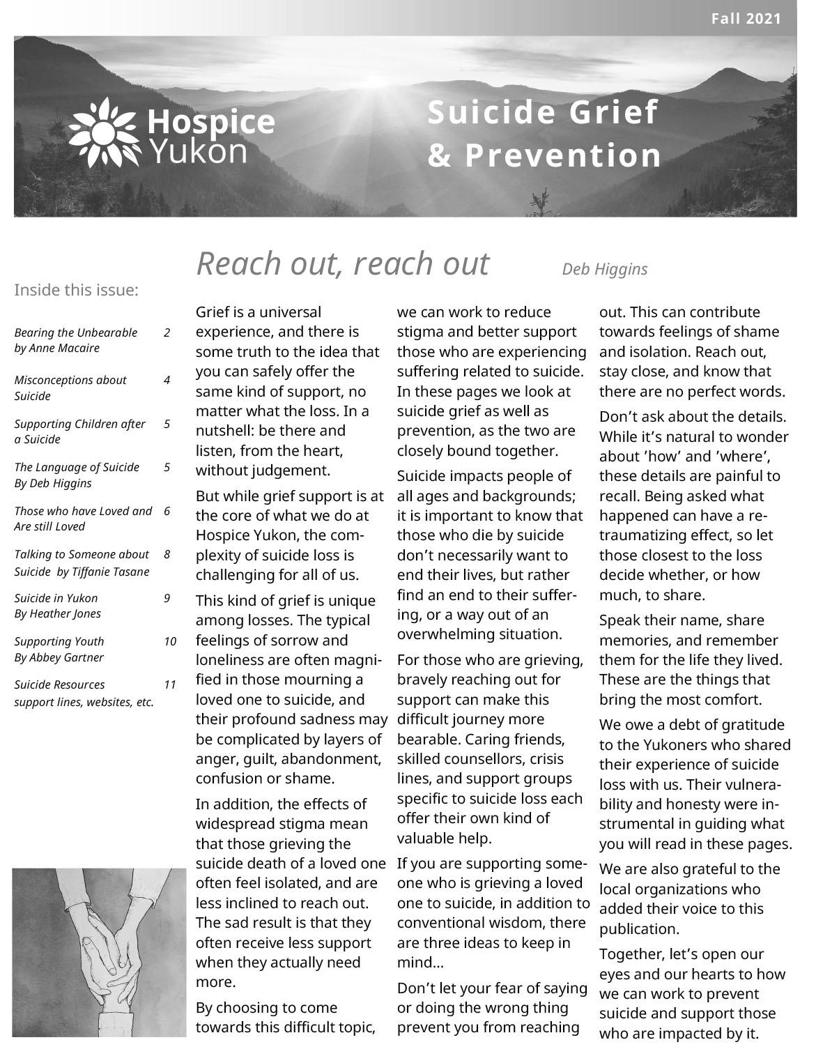 suicide newsletter